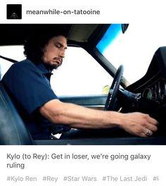 Actual footage from The Last Jedi #incorrectquotes #tumblr #starwars #thelastjedi #kyloren