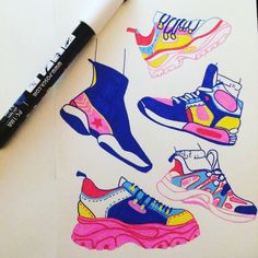 """my friend got me a bunch of posca markers for christmas so i drew some shoes ✨"" Marker Kunst, Marker Art, Pen Art, Pretty Art, Cute Art, Character Art, Character Design, Posca Art, Arte Sketchbook"