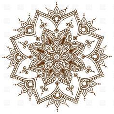 Brown round floral mandala Vector Image – Vector illustration of Design elements © bariskina Mandala Art, Mandala Design, Mandala Floral, Lotus Mandala Tattoo, Mandalas Drawing, Simple Mandala Tattoo, Mandala Doodle, Indian Mandala, Paisley Design