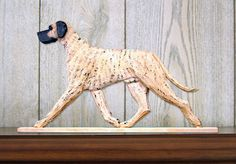 6 Coat Styles-Great Dane (Natural) (Dog in Gait) Topper. In Home Wall or Shelf Decor Products