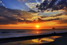 Sunset in a Puddle in Oceanside - August 29, 2013 by Rich Cruse on 500px