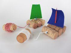 knutselen - bootjes maken voor in de watertafel