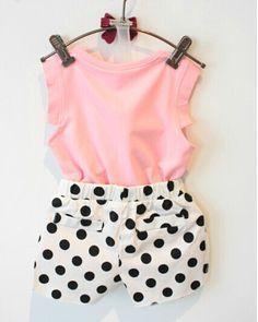 Girl Clothes Set Character T shirts Shorts Kids Clothes Enfants Vetements Fille Girls Clothes. Outfits Niños, Kids Outfits, Baby Outfits, Baby Kind, My Baby Girl, Baby Girls, Little Girl Fashion, Kids Fashion, Short Niña