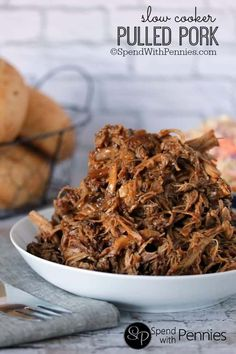 Slow Cooker Pulled Pork Sandwiches with Zesty Slaw via @spendpennies