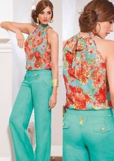 High Collar Blouse, Look Fashion, Womens Fashion, Western Wear, I Dress, Stylish Outfits, Casual Wear, Blouses For Women, Couture