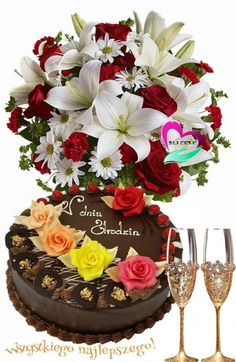 Flowers Gif, Pretty Flowers, Barbara Mori, Good Night Sweet Dreams, Happy Birthday Wishes, Beautiful Birds, Unique Weddings, Holiday Parties, Birthday Cake
