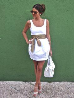 .: Summer Dresses, Cute White Dress, Fashion, Style, Dream Closet, Cute Dresses, Summer Outfits, Belt, Whitedress