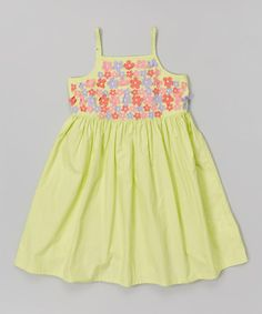 Look what I found on #zulily! Green Floral Babydoll Dress - Toddler & Girls by Donita #zulilyfinds