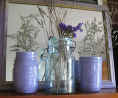 The Pickled Poppy: Painted Mason Jar DIY {A Re-Post}