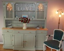 Large Ducal Solid Pine Welsh Dresser-Hand Painted in Farrow and Ball-Shabby Chic