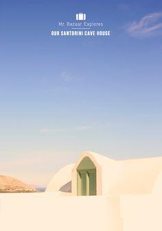 Home Tour: Our Colourful Santorini Cave House | bright bazaar