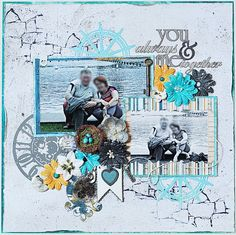 You&Me Always Together *DT Craft4You* - Bo Bunny - Somewhere In Time Collection - 12 x 12 Double Sided Paper - Timeless http://www.scrapbook.com/gallery/image/layout/5309949.html#u6FVeK25C5zTHFPC.99