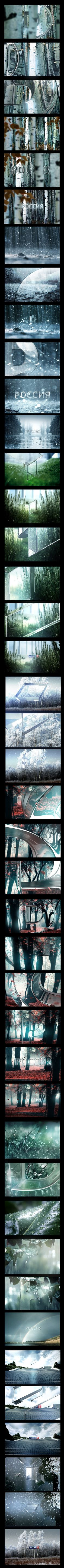 RUSSIA 1 channel ID's  for autumn 2012 by egor antonov, via Behance