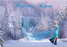 Disney Frozen Elsa Personalized Wall Decal - Wall Sticker Outlet