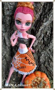 "Adorable ""Mini Webs"" Skirt Sets ONLY Fits Monster or Ever After Dolls Designer Ooak Doll High Fashions Mh / Eah Custom Clothes by awiety on Etsy"