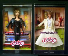 Grease Sandy Black Leather Yellow Skirt Barbie Olivia Newton John Doll Lot 2 | eBay