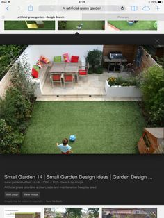 Artificial lawn, grass, paved area