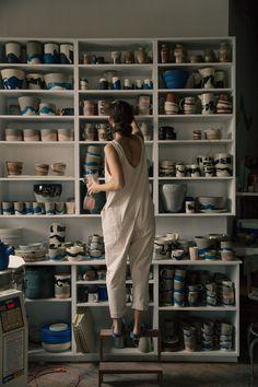 Helen Levi: Clothing Is A Function - Helen Levi: Clothing Is A Function & Eliza., Helen Levi: Clothing Is A Function - Helen Levi: Clothing Is A Function & Elizabeth Suzann Ceramic Pottery, Ceramic Art, Slab Pottery, Pottery Vase, Ceramic Mugs, Ceramic Bowls, Ceramic Shop, Pottery Wheel, Ceramic Design