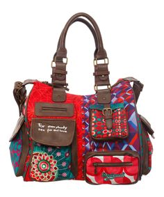 Love this Desigual Red & Purple Patchwork Tote by Desigual on #zulily! #zulilyfinds