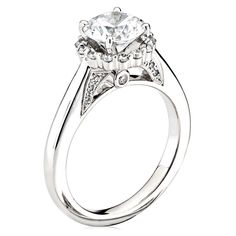 14kt White Gold (H/SI) Ladies Engagement Ring From the Parisi Collection by Scott Kay