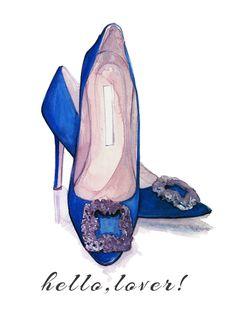 Beautiful Women39s High Heel Shoes Vector Illustration