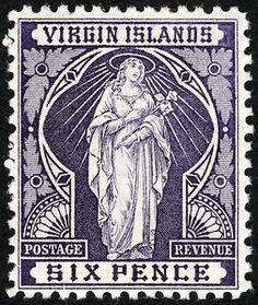 6p dark violet  St. Ursula single - 1899