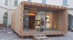 Casa din euro paleti - Case Prefabricate | Case Prefabricate