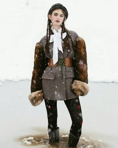 "Our new DIVA story ""Snowqueen"" is out now! #new #story #fashion #editorial #instagood #november #issue #diva #prada #fw16 #fall #winter #winterwonderland #snow #mountains #outnow #bybrickandmortar"