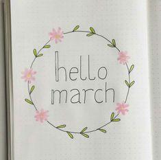 Bullet Journal Month, Bullet Journal Notes, Bullet Journal Junkies, Journal Layout, Book Journal, Hello March, Bullet Journel, Drawing Journal, Journal Aesthetic