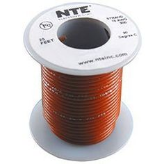 NTE Stranded 18 AWG Hook-Up Wire Brown 25 ft. by NTE. $6.86. NTE stranded 18 AWG brown hook-up wire is perfect for internal point-to-point wiring applications.