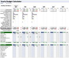 retirement budget spreadsheet