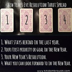 Now is the time we start to consider what we want to accomplish in the next year. We also contemplate the changes and transformations we wish to see in ourselves and our lives. Here is a little tarot spread to try for this evening or tomorrow to help you discover the best resolutions and goals for the coming year.