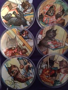 Ladybird Book coasters made by Ladybird Books, Bookstores, Activity Ideas, Book Design, Coasters, Nostalgia, Activities, History, Painting