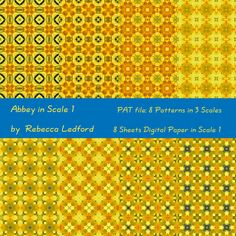 """Abbey in Scale 1 Digital Paper 12""""x12"""" and Patterns (.PAT file for Photoshop) by thenthdimension on Etsy"""