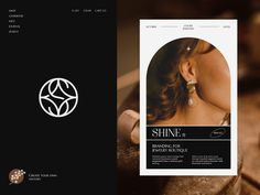 Shine Jewelry Branding by Halo Graphic for Halo Lab on Dribbble Website Design Layout, Graphic Design Layouts, Graphic Design Posters, Layout Design, Print Design, Brand Identity Design, Branding Design, Album Design, Jewelry Branding