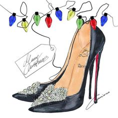 """4 DECEMBER I think you're lying when you say you don't have any clues. You know I always wish for sparkling red soled shoes. #supergirl Christian Louboutin…"""