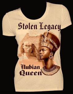 Stolen Legacy Nefertiti Queen Fitted Tee. Color: Tan