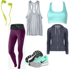 Cute & colorful #outfit for the #Running Chic #fashion mission w/super comfy looking sneaks