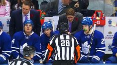 """Watch closely and Auston Matthews and Mitch Marner sing along to Bon Jovi's """"Livin' on a Prayer"""" while sitting on the Maple Leafs bench. Hockey Baby, Ice Hockey, Mitch Marner, Maple Leafs Hockey, Hockey Boards, Hip Workout, Toronto Maple Leafs, How Big Is Baby, Hockey Players"""