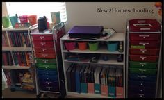 My Homeschool Room for Unit Studies, Lesson Plans, Homeschooling, Locker Storage, David, Rooms, Cabinet, How To Plan, Furniture