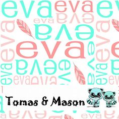 Feather Eva Minky Name Personalised Blanket Design. Choose your own, images, colours and name. Cot size $120 pp. Find us on FB, Tomas & Mason :)