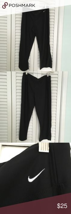 Nike cropped workout pants Nike cropped work out pants.  Color Black. Size M. Perfect condition Nike Pants Track Pants & Joggers