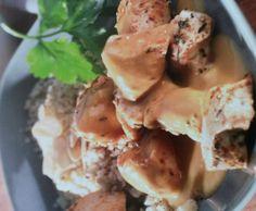 Rezept Hähnchen mit Mandel-Couscous in Aprikosensauce von noldine - Rezept der Kategorie Hauptgerichte mit Fleisch