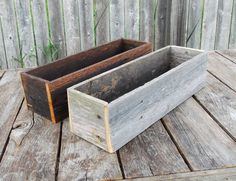 2 Small Reclaimed Wood Centerpieces For Rustic Wedding Or Decoration , Wooden…