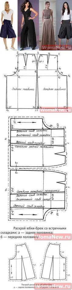 Юбка брюки выкройка | WomaNew.ru - уроки кройки и шитья.