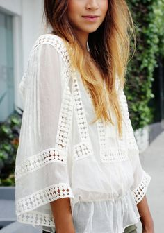 Lace Summer Top had these in the sixties too love that this style is coming back