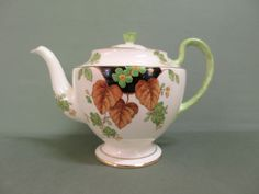 Rare Aynsley Teapot With Flower Knob, c.1930's. #Aynsley