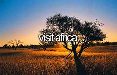 bucket list: visit africa