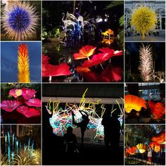 """Dale Chihuly: Dazzling Nights & Days at NYBG - """"I'm an artist, a designer, a craftsman, interior designer, half-architect. There's no one name that fits me very well."""" Dale Chihuly #art #dalechihuly #inspiration"""