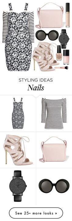 """""""Flower Pattern Overall"""" by restyikhyar on Polyvore featuring H&M, City Chic, Carvela, Dolce&Gabbana, Timex, Linda Farrow, OPI, Too Faced Cosmetics and plus size dresses"""